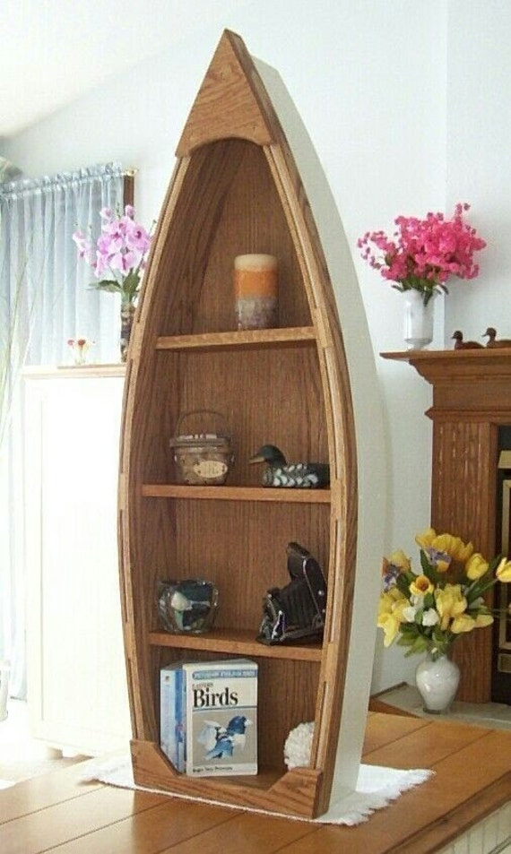 row boat bookcase plans
