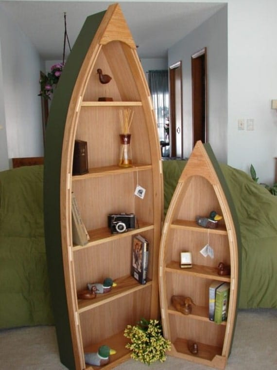 boat bookcase plans