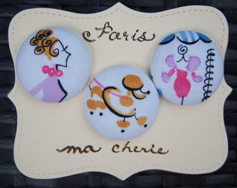 Parisian Boutique-fabric covered button collection-size 60