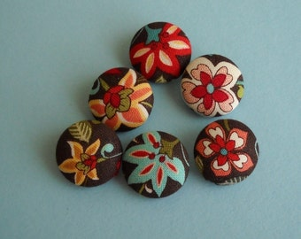 Bavarian cream - fabric covered button collection- size 30