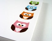 Owl Greeting Cards, Owl Cards, Bird Cards, Owl Stationeory, Owl Blank Cards, Woodland Creature - (set of 8)