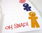 Gingerbread Man Gift Tags, Christmas Tags, Mini Holiday Cards, Holiday Gift Tags, Christmas Cards - (set of 10)