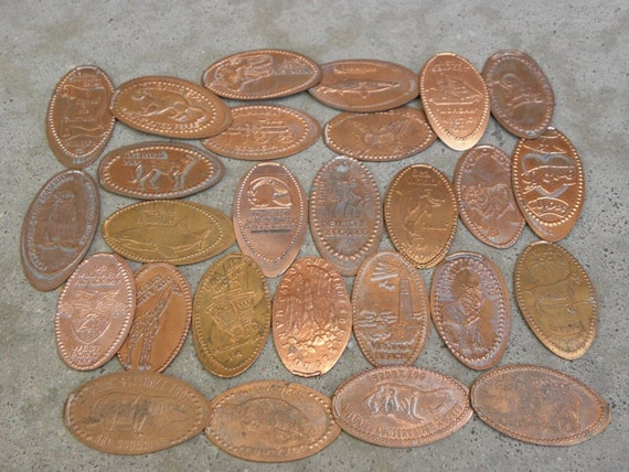 27 Pressed Pennies for your ART