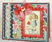 Heart Smile Handmade Valentine Thank You or Friendship Card