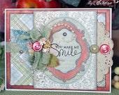 You Make Me Smile Handmade Friendship or Valentine Card