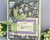 You're a Blessing Handmade Friendship Thinking of You or Thank You Card