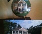 Handpainted Custom Ornament- Home