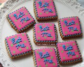 Alice in wonderland Eat Me cookies 1 dozen  two size options