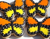 The Monarch butterfly cookies 1 dozen special price