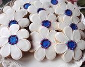 reserve for Dj Patriotic Pretties Flower cookies 2 dozen