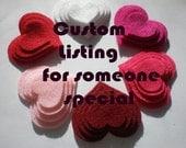 Custom Listing for Amanda  (200 Felt Circle)
