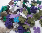 100- Die cut Felt Lilac Flowers,  Color of your choice