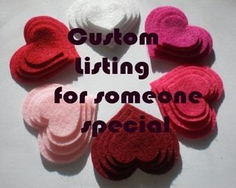 Custom Listing for Cherelle  (1300 Felt Heart)