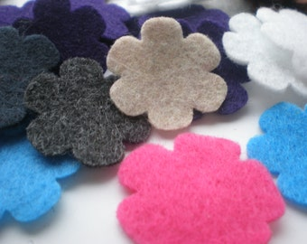 100- Die cut Felt Medium Flowers, Variety or a color of your choice (1.25 Inch)