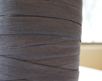 "5/8"" Inch Fold Over Elastic -  5 Yards of Grey Night  FOE"