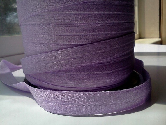 "5/8"" Inch Fold Over Elastic -- 5 Yards of Lavender FOE"