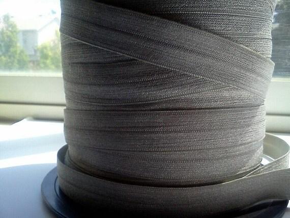 "5/8"" Inch Fold Over Elastic -- 5 Yards of Metal Grey FOE"