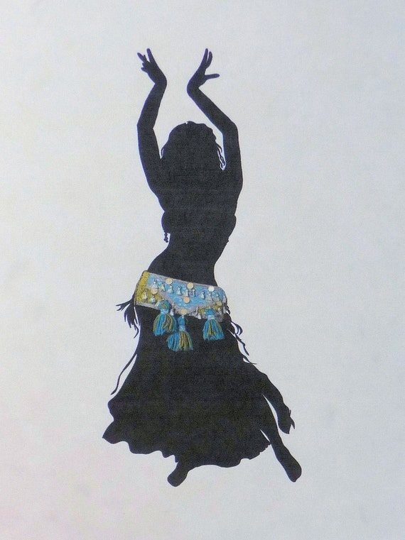 belly dancer silhouette belly dance silhouette print by dorothysrubies on etsy 4157
