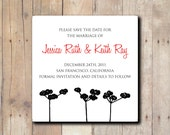50 Save the Dates or Invitations with my Cotton Design