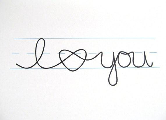 Blank Card - I love you