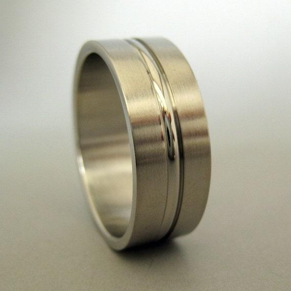 Perpetual loyalty steel ring, men's wedding ring, stainless steel ring, men's steel ring, promise ring,  380