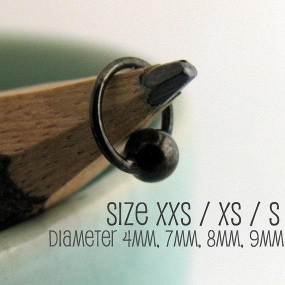 Tiny Hoop Earrings for Men - Helix Tragus Daith Rook Snug Eyebrow Piercing - 531B