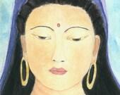 Goddess Quan Yin Blank Greeting Card