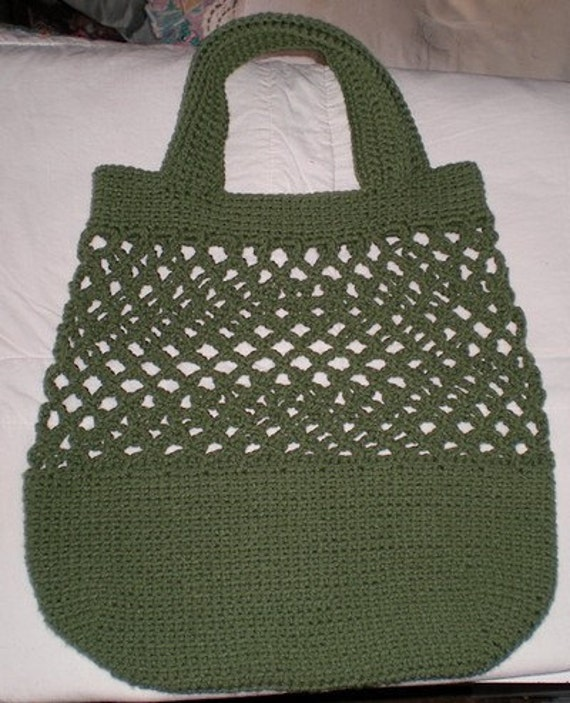 Crochet Grocery Bags : Reusable Crocheted Grocery Bags by Popples on Etsy