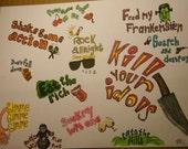 Wise Words of RocknRoll Drawing Print