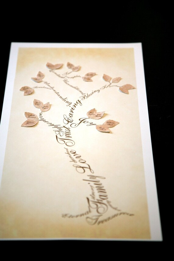 Family Tree (full) Custom heirloom Illustration