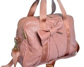 Beverly Bowtie Gym Bag in Dusty Rose