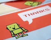 Thank You Cards. Robot Cards x 4