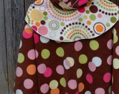 Size 7 - 9 Poncho \/ Girls Modern Dot Poncho in Chocolate Brown by Sweet Blossom Boutique