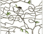 Original Drawing - Tangled branches 3