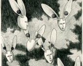 Original drawing - Flying seeds 1