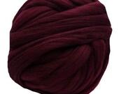 Maroon Colonial Top Wool Roving