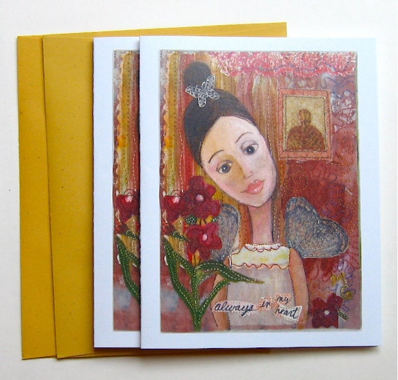 2 Greeting Cards, Blank for All Occasions
