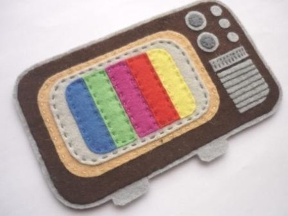 Tv retro felt case- suitable for Tablets -original desing by Latelier