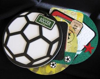 Soccer Premade Mini Scrapbook Album