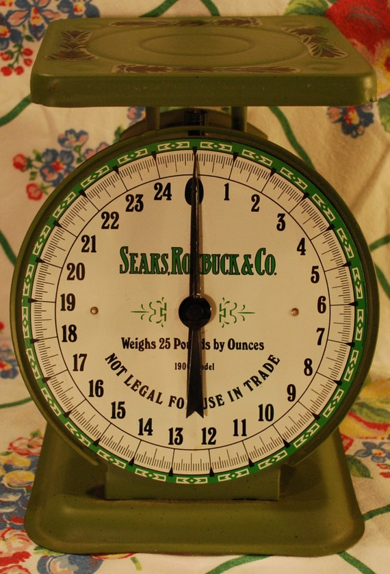 Sears Roebuck Scale Vintage Heavy Old Green Sears