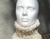 White Organic Cotton Cowl Neckwarmer Scarf
