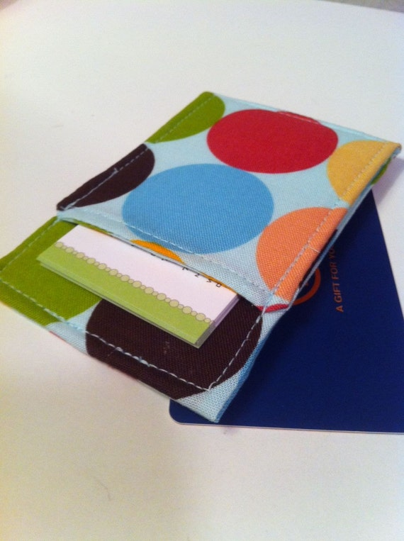 Business Card Holder in Sweet Dots, Gift Card Holder, Wallet  Free Shipping