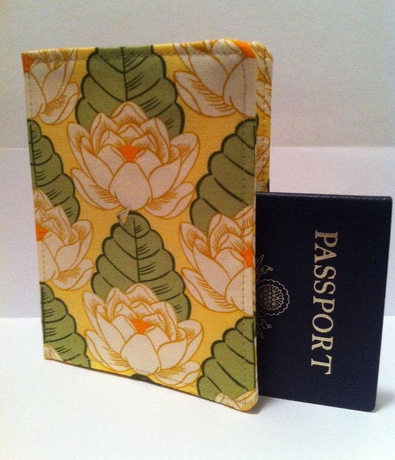 Passport Cover Amy Butler Lotus Pond for your World Travels