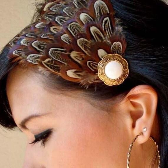 Lourdes Feather Headband
