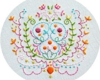 Bramble Blooms Embroidery Pattern PDF