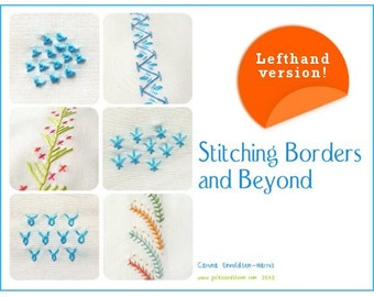 Lefthanded Embroidery E-book Stitching Borders and Beyond - PDF