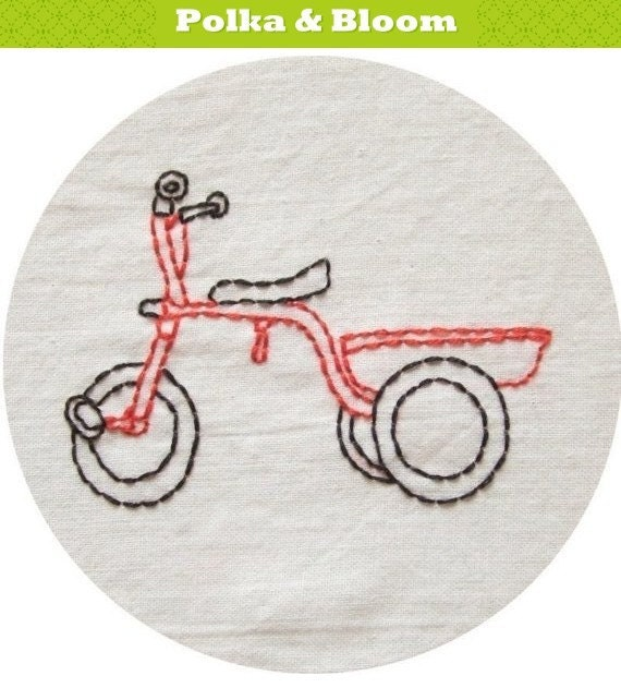 Embroidery Pattern Keepin' Steady Cycles PDF