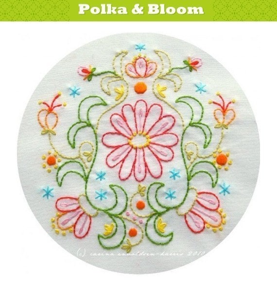 Embroidery Pattern August Blooms PDF
