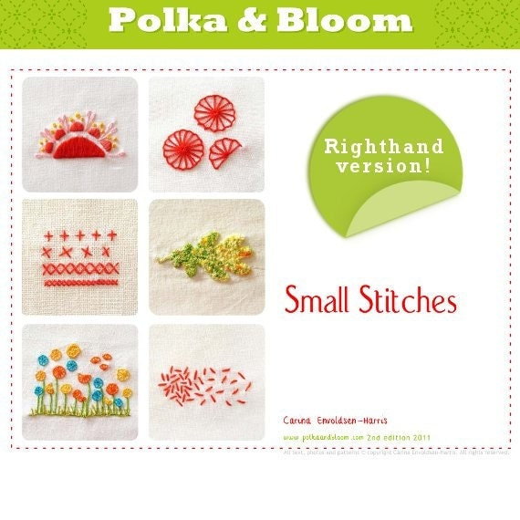 Embroidery E-book  -Small Stitches Booklette-  PDF