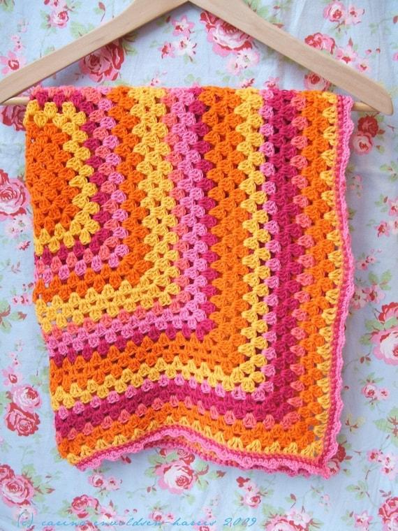 Crochet Zingy Pattern : Crochet Baby Blanket Zingy Raspberry